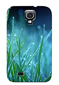 Markrebhood Case Cover Protector Specially Made For Galaxy S4 Wet Grass