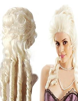 fabricantes que venden María Antonieta peluca Europa y América leche rizos dorados únicas en forma