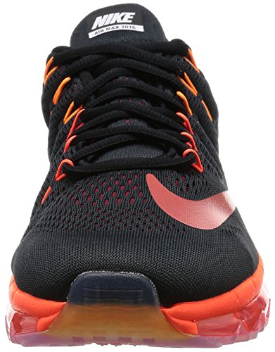 Nike Air Max 2016, Scarpe da Corsa Uomo Negro (Negro (Black/Multi-color-noble Red))