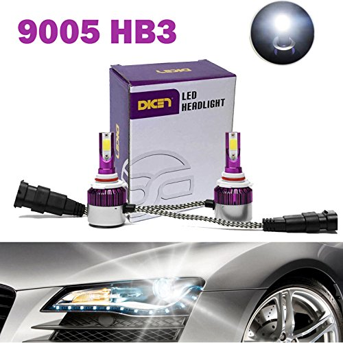 9005 HB3 LED Headlight Bulbs 12000LM 120W 6000K Cool White COB Chips Replace High Beam/Low Beam/Fog Light Plug & Play - 2 Yr Warranty (Pair)