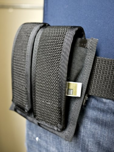 OUTBAGS USA OB-2MPC Double / Two Pack Magazine Pouch for Compact Clips. (Rifle Mag Pouch Belt Loop)