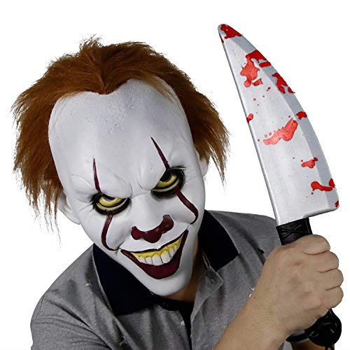 Stephen King's It Pennywise Mask Halloween Horror Clown Joker Mask Cosplay Costume -