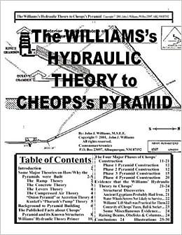 The Williams' Hydraulic Theory to Cheops' Pyramid: John J  Williams