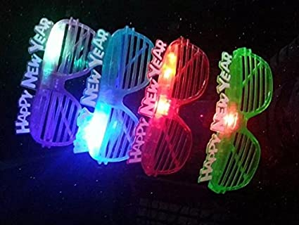 happy new year shutter slotted led light up flashing party new years eve times square sun