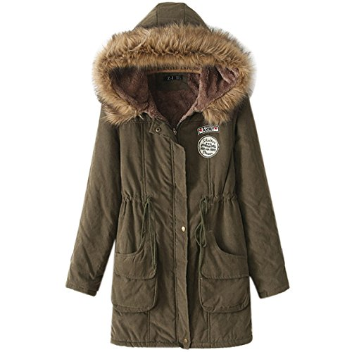 ef63e2c398e iLoveSIA Womens Hooded Warm Coats Parkas with Faux Fur Jackets - Import It  All