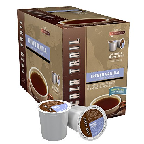 (Caza Trail Coffee, French Vanilla, 24 Single Serve Cups)