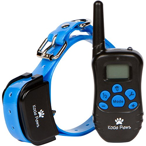 Electronic Training Collar for Dogs with Remote Control - Shock & Bark Collar for Small, Medium and Large Dogs | Waterproof & Rechargeable E-Collars | Pet Obedience Trainer & Correction Device by Koda Paws