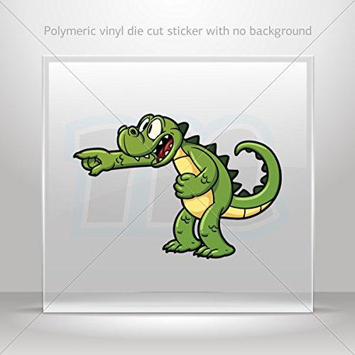 Sticker Little Gator Alligator Motorbike Vehicle Weatherproof Garage car Bicy (14 X 9.77 In)