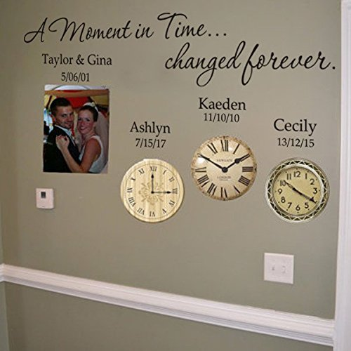 Mairgwall Personalized Birth Date Wall Decal Removable Custom Name And Birth Date Wall Sticker Decor Art For Family A Moment In Time Changed Forever Buy Online In Burkina Faso At Burkinafaso Desertcart Com Productid