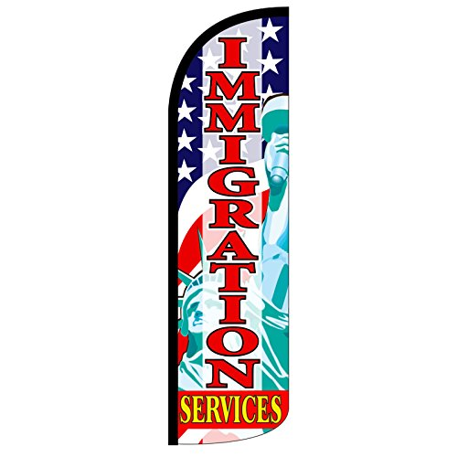 Buy cheap neoplex immigration services foot windless swooper feather flag only