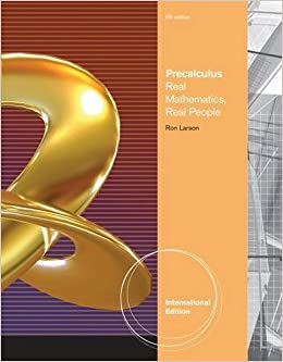 Book Precalculus: Real Mathematics, Real People by Ron Larson (2011-01-31)
