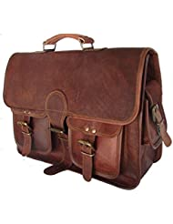 Handcrafted exports Vintage Leather Messenger Laptop Satchel Briefcase Gift Sale