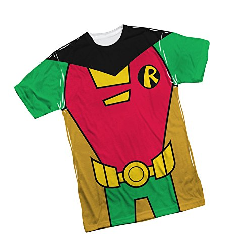 [Robin -- Teen Titans Go! All-Over Front Print Sports Fabric T-Shirt, X-Large] (Teen Titan Robin Costumes)