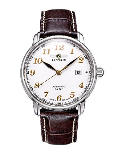 Zeppelin Men's Watch 76561 With Automatic White Dial