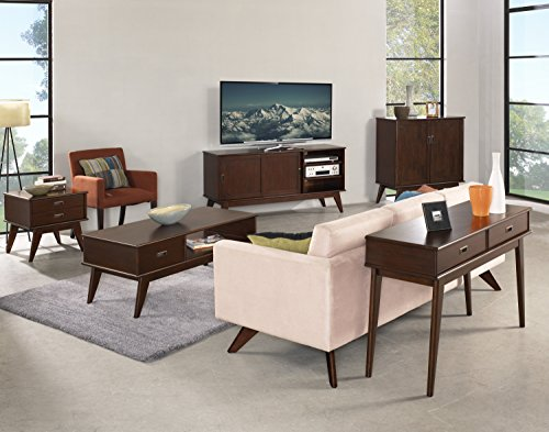 Simpli Home Draper Mid Century Solid Hardwood Storage Cabinet, Medium, Auburn Brown by Simpli Home (Image #6)