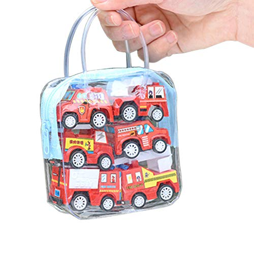 lightclub 6Pcs Mini Simulation Engineering Truck Fire Car Vehicle Model Novelty Funny Toy for Children Kids Fire Car