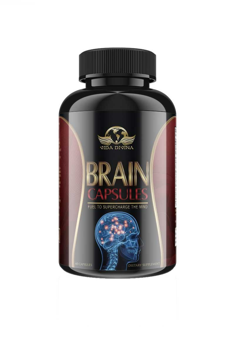 Brain Capsules,Dr Esther's formulated Vidadivian's Popular ''Brain'' function capsules 60 count by vida divina brain capsules