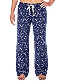 Noble Mount Womens 100% Cotton Flannel Lounge Pants - Starry Night Blue- S