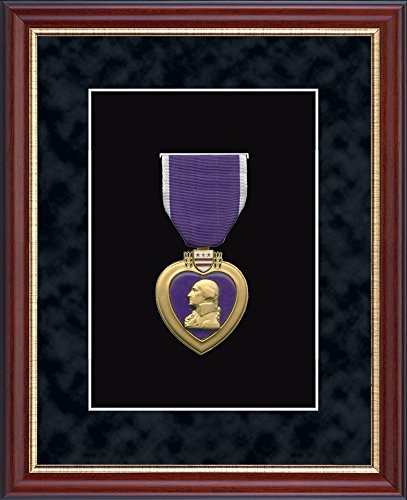 Purple Heart Medal Display Frame - Museum-Quality Matting - Made in USA By Church Hill Classics -