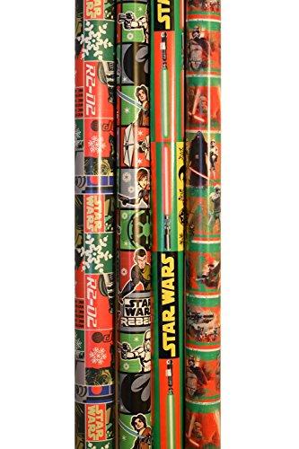 Amazon.com: Star Wars Gift Wrap American Greetings Bundle ...