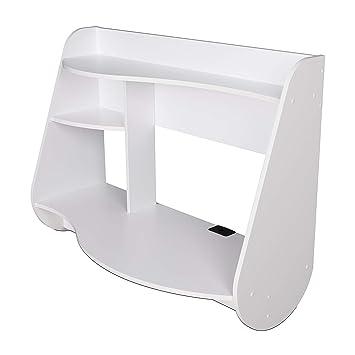 Awe Inspiring Amazon Com Nova Natural Floating White Desk For Small Theyellowbook Wood Chair Design Ideas Theyellowbookinfo