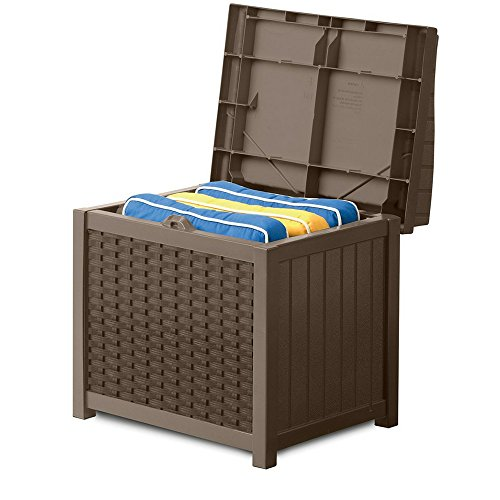 Porch Storage Container Weatherproof Outdoor Deck Wicker Box Organizer Patio Deck Contemporary Bench Pool Equipment Patio Pillows Backyard Toy Storage Garden Tools & eBook by BADA shop by BS
