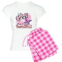 CafePress - Life Is Good - Womens Novelty Cotton Pajama Set, Comfortable PJ Sleepwear