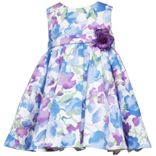 Rare Editions Baby/INFANT 12M-24M 2-Piece BLUE PLUM MULTI FLORAL PRINT Special Occasion Flower Girl Easter Party Dress
