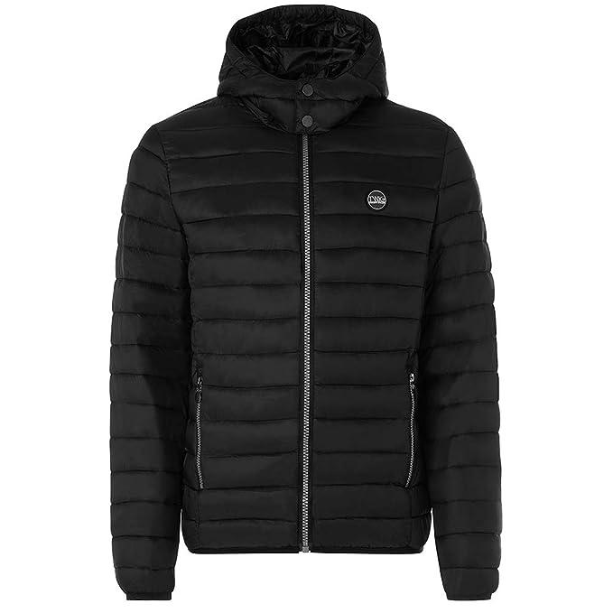 Chaqueta Hombre TWIG Ultralight Urban Jacket L267 Abrigo Acolchado Capucha Black (M)