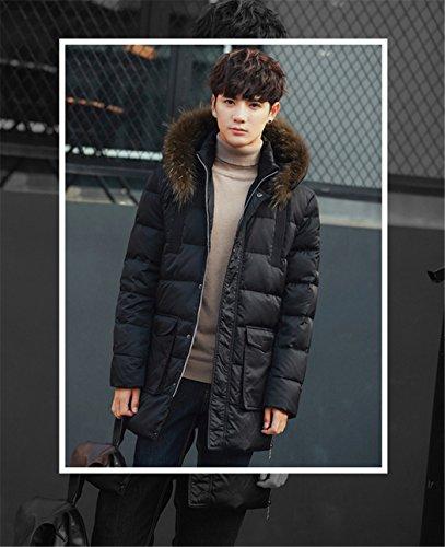 para moda abrigo El ropa algodón algodón XXL espeso Sau de largo negro cap párrafo larga hombres chaqueta y de wEErOXnPRq