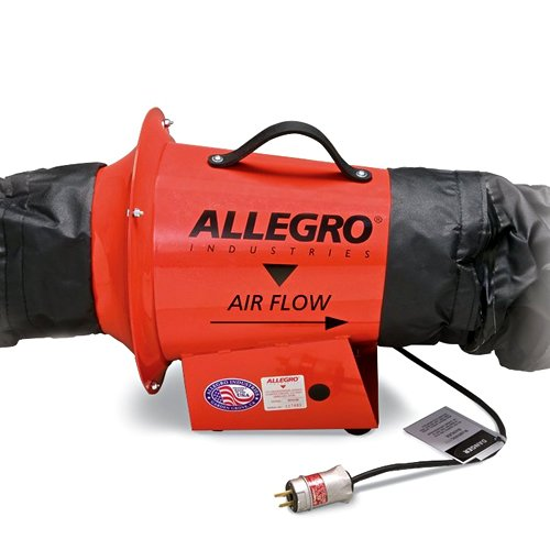 Allegro Industries 9513-05I AC Axial Explosion-Proof Inline Booster Blower, - Blower Ac Proof Explosion Axial