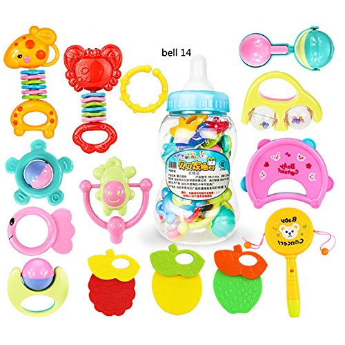 elegantstunning Kids Muscial Toys Newborn Baby Bell Toy Set Puzzle Early...