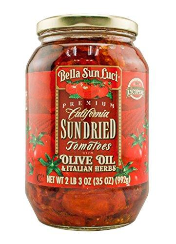 35 oz Bella Sun Luci Sun Dried Tomatoes Halves in Olive Oil