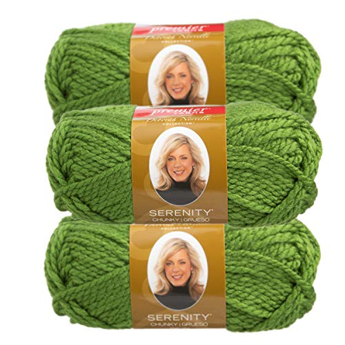 - Premier Yarns (3 Pack Deborah Norville Serenity 100% Acrylic Soft Holly Green Yarn for Knitting Crocheting Chunky #5