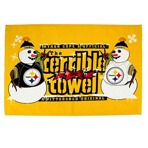 Pittsburgh Steelers Terrible Towel Winter Snowman