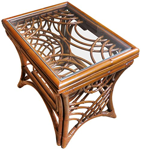 Spice Islands Bali End Table, Brown