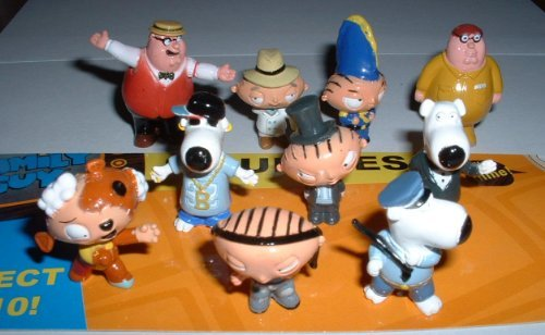 Family Guy Figures - Set of 10 Vending Machine Toys (Family Guy Best Stewie Episodes)