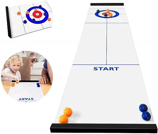 Juego De Mesa Curling, Curling Juego De Mesa Compactos Juegos De Mesa para Niños Juguetes Portátiles De Juego para Adultos De Viaje para Niños Regalo Padre-Hijo/Bar/Juegos De Sociedad: Amazon.es: Hogar