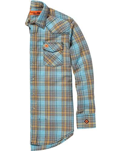 Shirt Blue Wrangler Twill (Wrangler Men's Light Blue 20X Flame-Resistant Shirt Light Blue X-Large)