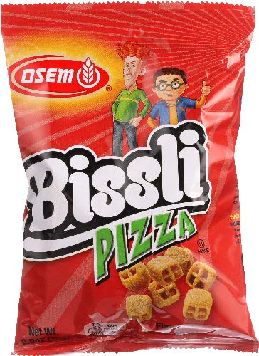 Bissli Pizza Flavored Crunchy Wheat Snack Perfect Lunch Snack for Kids & Adults 2.5oz Bag ( pack of 12)