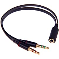 SmartEra 3,5 mm tot 2 keer vergulde koptelefoon Mic Audio Y Splitter platte kabel