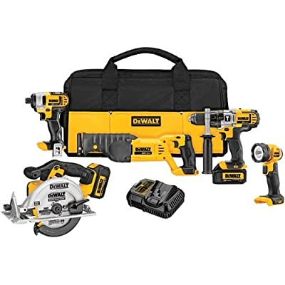 Image of DEWALT 20V MAX Cordless Drill Combo Kit, 5-Tool (DCK592L2) Home Improvements