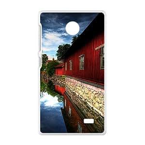 Red Lodges White Phone Case for Nokia Lumia X wangjiang maoyi by lolosakes