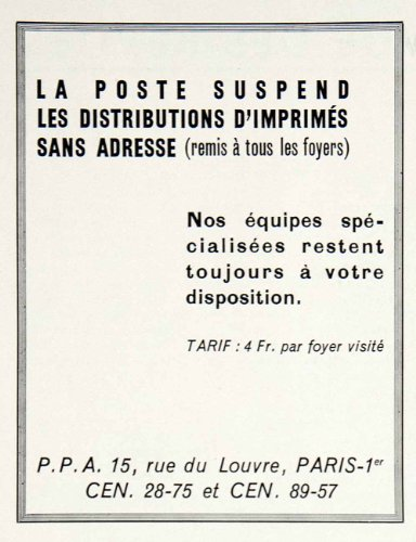 1957-ad-15-rue-louve-paris-postal-service-announcement-french-poste-mail-france-original-print-ad