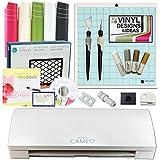 Silhouette Cameo 3 Machine Bundle Vinyl Starter Kit, 12 Vinyl Designs Projects & Inspiration, Sketch Pens, Spatula, Tools