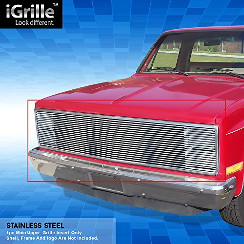 Off Roader Stainless Steel eGrille Billet Grille Grill for 81-87 Chevy GMC Pickup/Suburban/Blazer/Jimmy Phantom