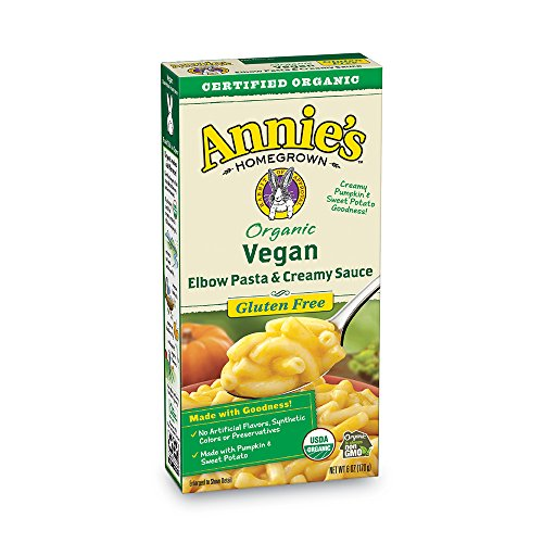 Annie's Organic Vegan Gluten-Free Elbows & Creamy Sauce Macaroni & Cheese, 12 Boxes, 6oz (Pack of 12)
