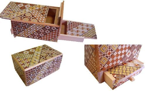 5 Sun 10 Steps With Hidden Drawer - Japanese Puzzle Box (Steps Japanese Box Puzzle)