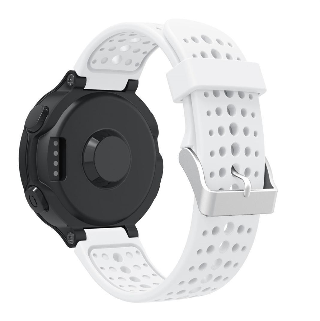 Oucan Garmin Forerunner 220 Watch Band, Soft Silicone Replacement Watch Band for Garmin Forerunner, Smart Watch