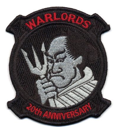 U.S. Military Embroidered Patch - HSL 51 WARLORDS - 20TH ANNIVERSARY 20th Anniversary Patch